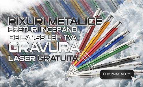 Pixuri metalice gravura laser GRATUITA incepand de la 1,80 lei + TVA